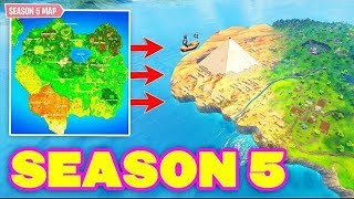 THE MAP of SEASON 5! New Battle Pass Skin! 🔴 Live Fortnite