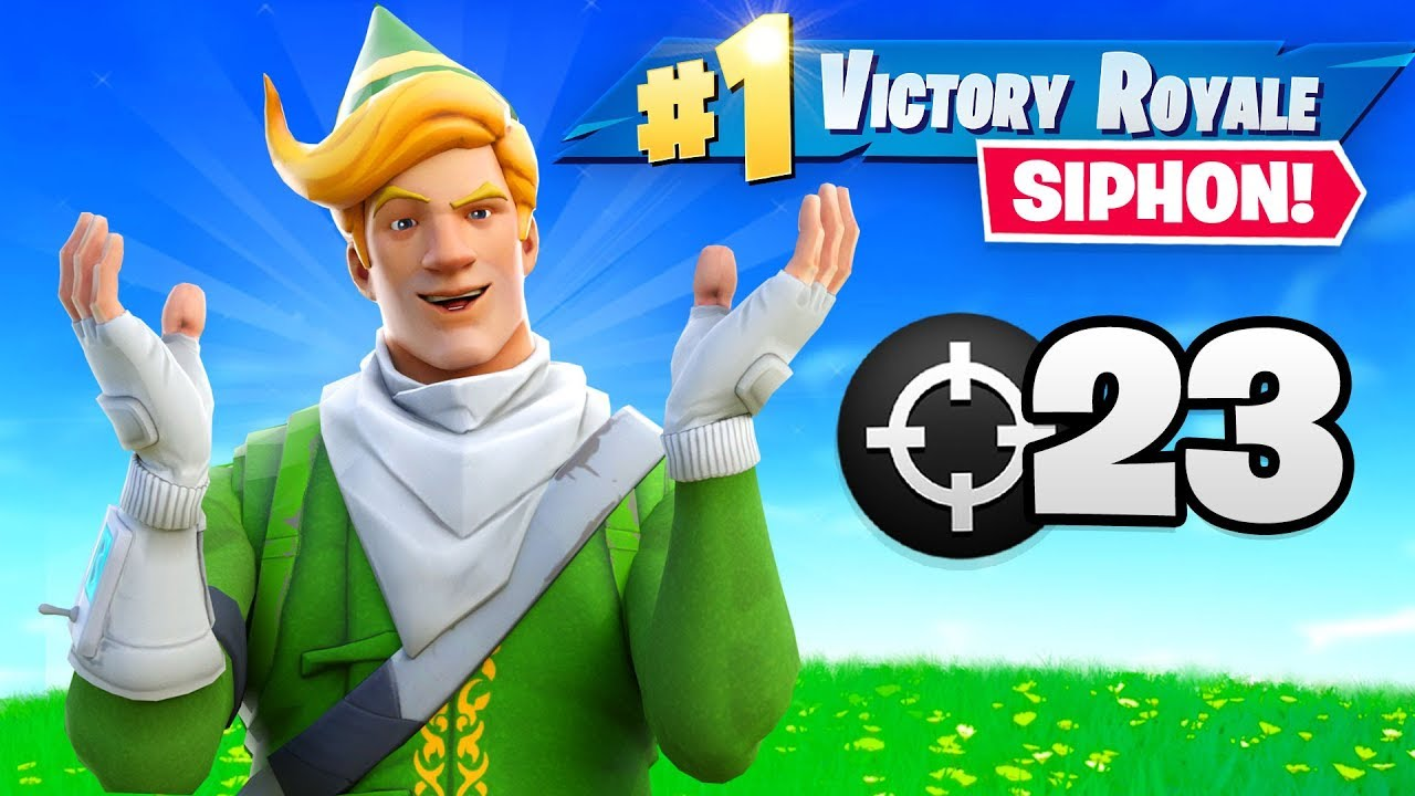 FORTNITE ADDED SIPHON BACK!!!  (23 Elims) thumbnail