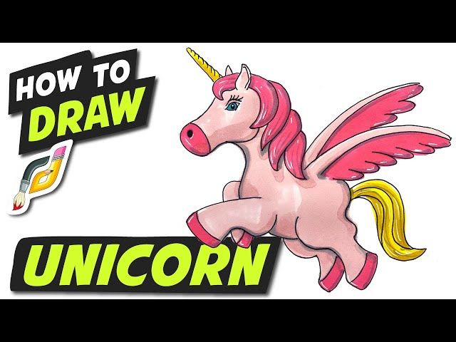 How to Draw UNICORN - Fun Easy Simple step by step - Beginner