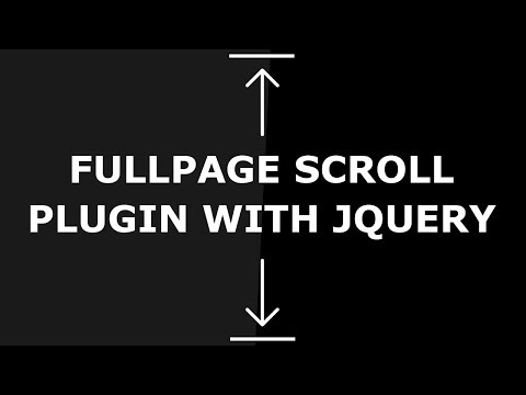 Fullpage Scroll Plugin With JQuery - Simple JQuery Plugin For Fullscreen One Page Scrolling Websites