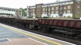 British Trains Class 59 & 66 Locomotives Freight Trains London 2014 Part 1