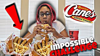 TRYING TO EAT TΗE ENTIRE RAISING CANES MENU IN 5 MINUTES..(IMPOSSIBLE CHALLENGE)