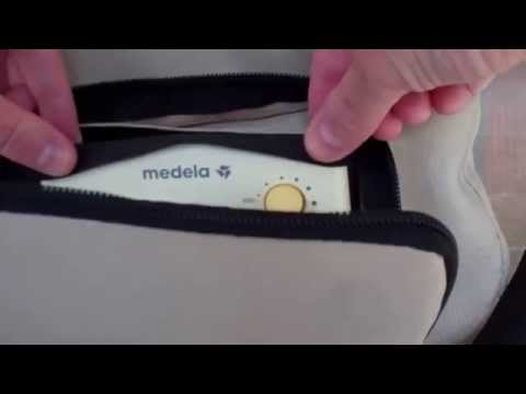 How to remove the pump from the Medela Advanced bag and clean the bag