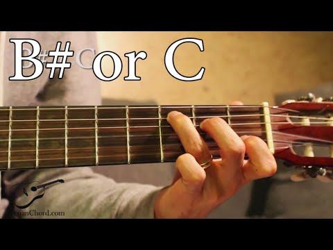 B sharp (B#) or C Chord on Guitar - YouTube