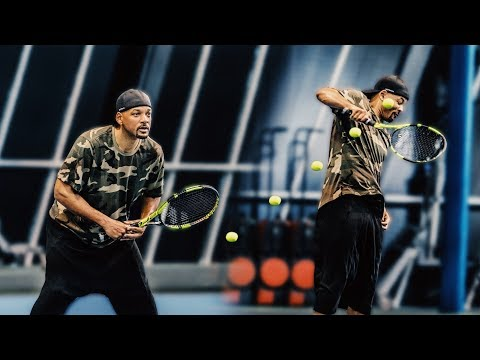 Getting Hit with a 120mph Tennis Serve SUCKS! | Will Smith Vlogs