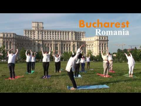 Sun Never Sets On Yoga - Art of Living  Bucharest Romania 2016
