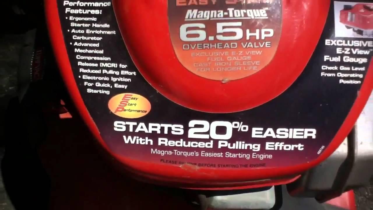 scotts 6 5hp tecumseh 3in1 mulcher mower
