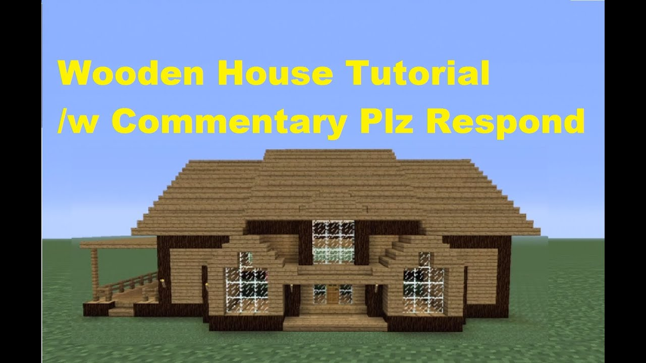 Minecraft 360: How to Build a Wooden House - House Number 3 - YouTube