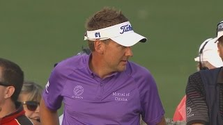 Ian Poulter's dead shank off the tee on No. 5 at Honda