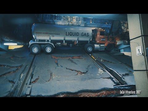 [4K] Earthquake Scene on the Studio Tour - Universal Studios Hollywood
