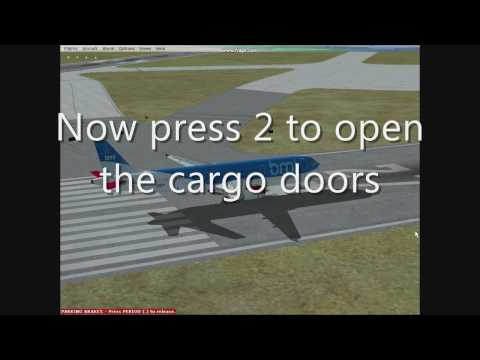How to open: Passenger Doors/Cargo Doors/Emergency Doors in FSX