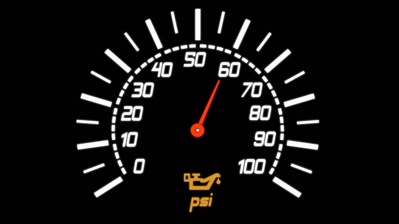 Car Speedometer Gauge Oil Icon - Black Background ...