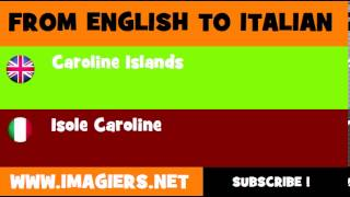 How to say Caroline Islands in Italian