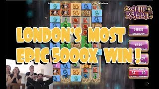 London's EPIC WHITE RABIT 5000X WIN!!!