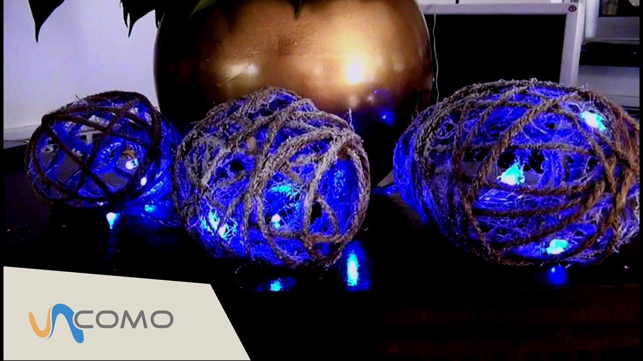 91161395f78 Decoraciones navideñas - Bolas con luces de navidad - YouTube
