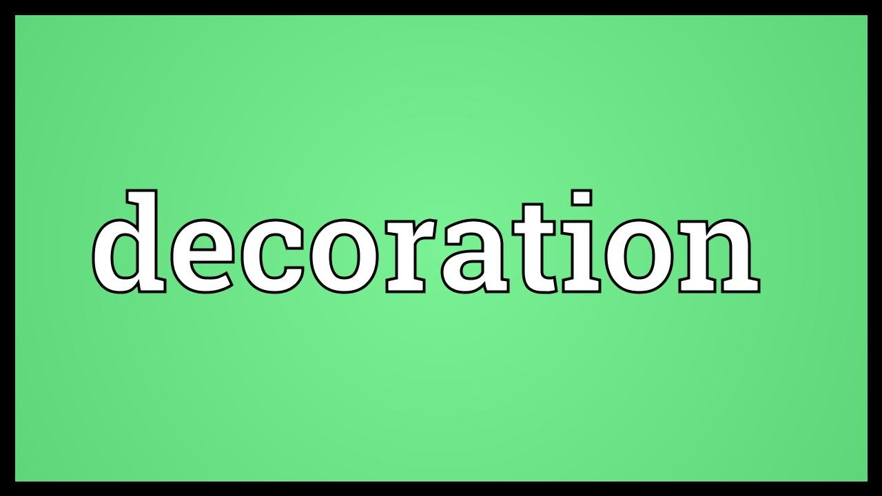 Decoration Meaning