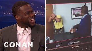 "Kevin Hart Almost Knocked Out Dwayne ""The Rock"" Johnson - CONAN on TBS"