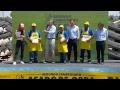 El presidente Mauricio Macri asiste a la final del Campeonato de Asado de Obra