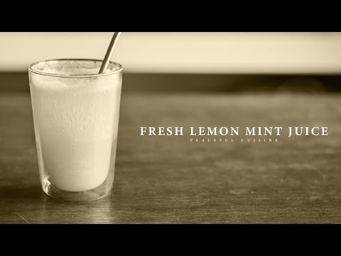 [No Music] How to make Fresh Lemon Mint Juice