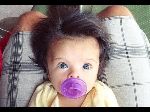 Adorable blue eyed baby girl with voluminous hair steals the internet's heart from  North Hawaii