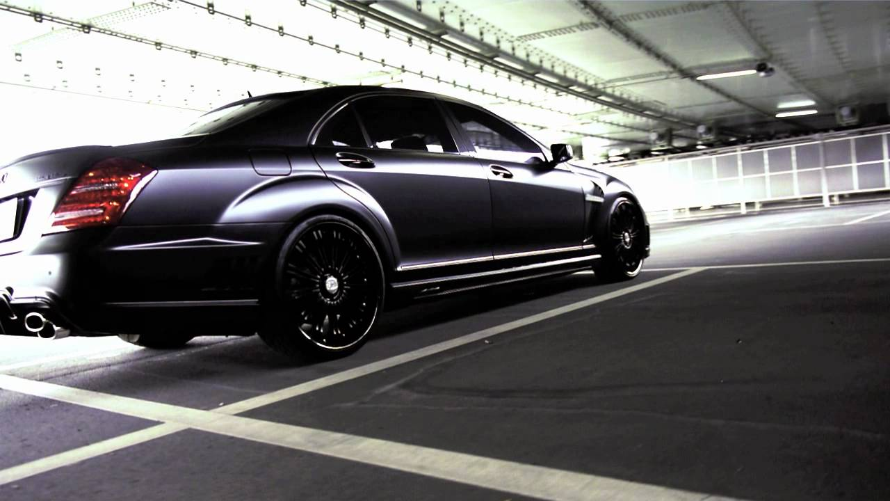 W221&W218 BLACK BISON MATTE BLACK WRAPPING - YouTube