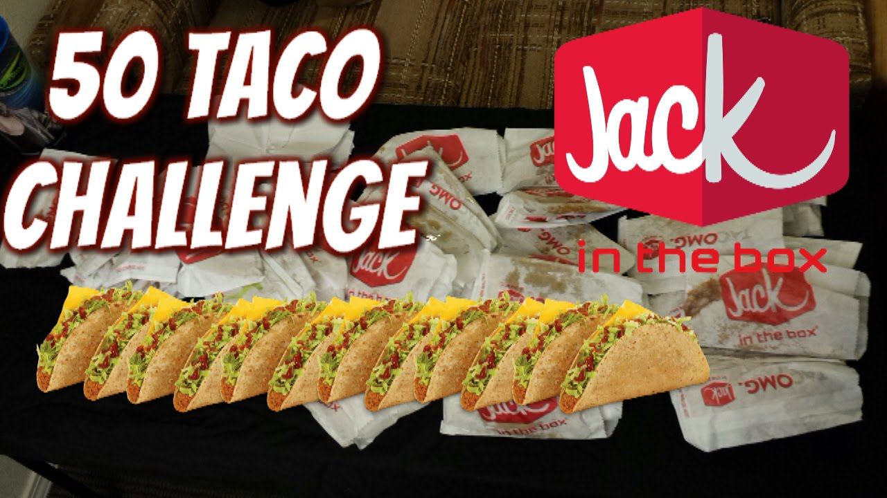 jack in the box 50 taco eating challenge! (9 lbs) | freakeating vs