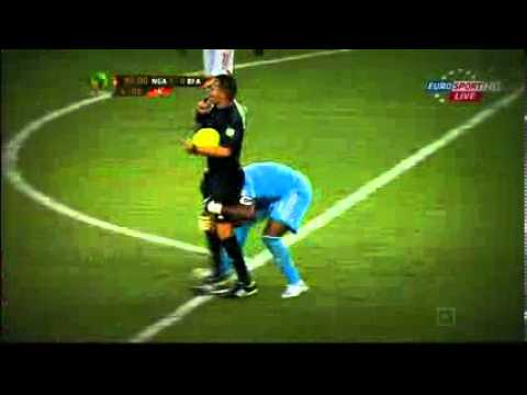 Celebration FAIL! Enyeama vs referee