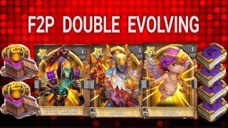F2P Double Evolving 3 Heroes - Castle Clash
