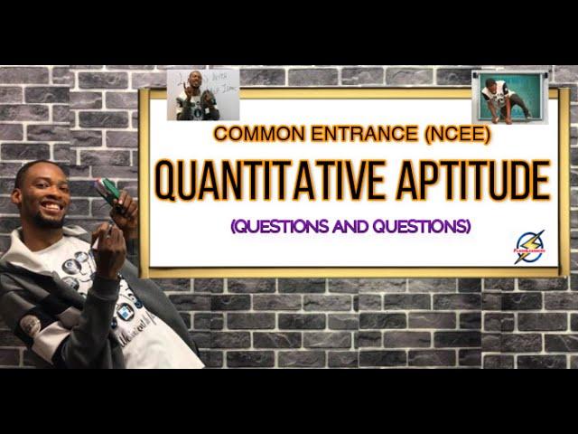 Solved Common Entrance Quantitative Aptitude Questions | Primary Schools