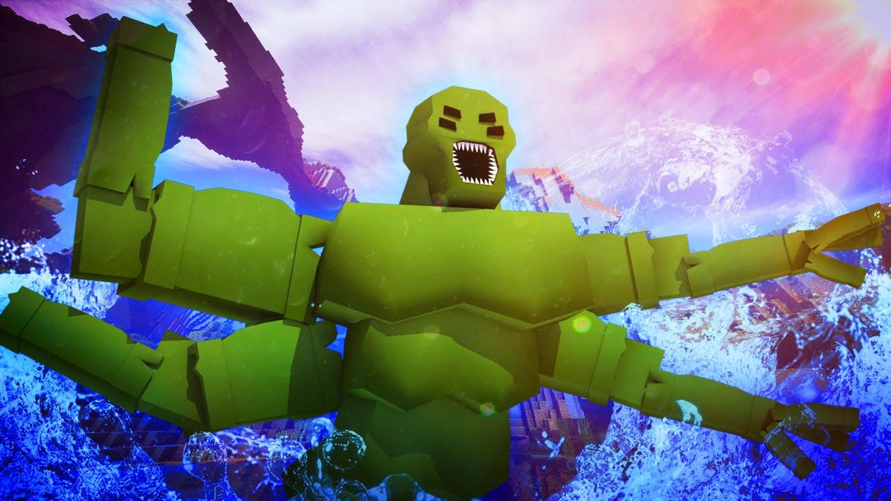 Minecraft KRAKEN FISHING CHALLENGE KRAKEN IS UNLEASHED JAWS SHARKS SPONGEBOB YouTube