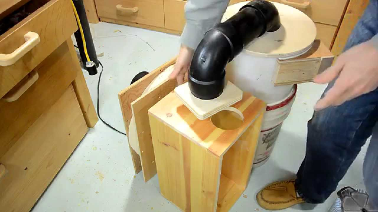Building a dust collector youtube for Dust collector motor blower
