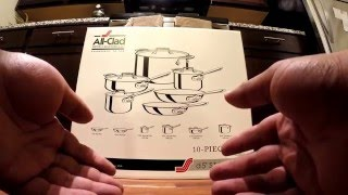 Unboxing of the 2015 D5 All-Clad 10-piece cookware set
