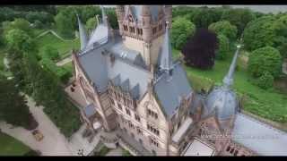 Luftaufnahmen Schloss Drachenburg, Drachenfels Königswinter, Bonn, Drohnenaufnahmen Deutschland
