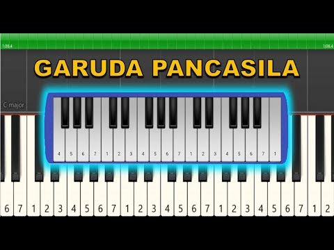 Not Pianika Not Piano Garuda Pancasila Tutorial Youtube