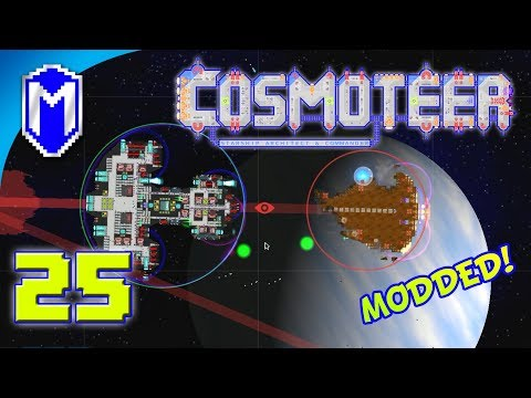 Cosmoteer - Drowning Them With Missiles - Lets Play Cosmoteer Mods Gameplay Ep 25