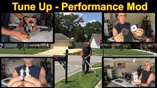 Install Tune Up Kit 90152Y on Echo SRM225 Weedeater - Exhaust Mod - Test it out #SideHustle