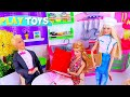 Barbie Girl Restaurant Baby Doll Cooking Pizza Kitchen Toys!