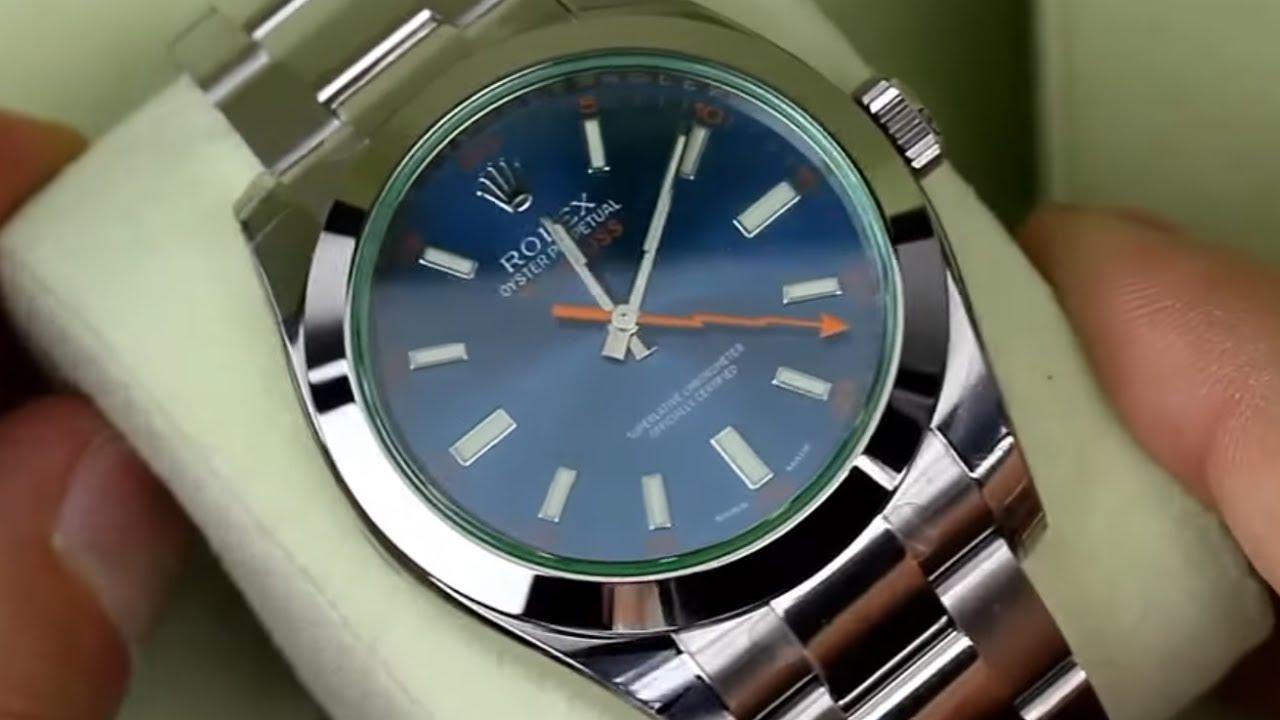 ROLEX Milgauss Blue Dial Stainless Steel 40mm Men\u0027s Watch 116400GV