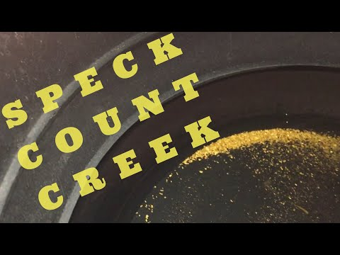 Gold Prospecting - Speck count creek