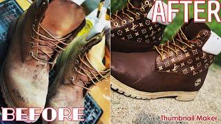 Full Restoration Of Timberland Work Boots!!!