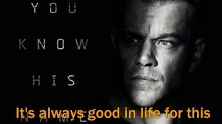 Jason Bourne 2016 - Extreme Ways, MOBY