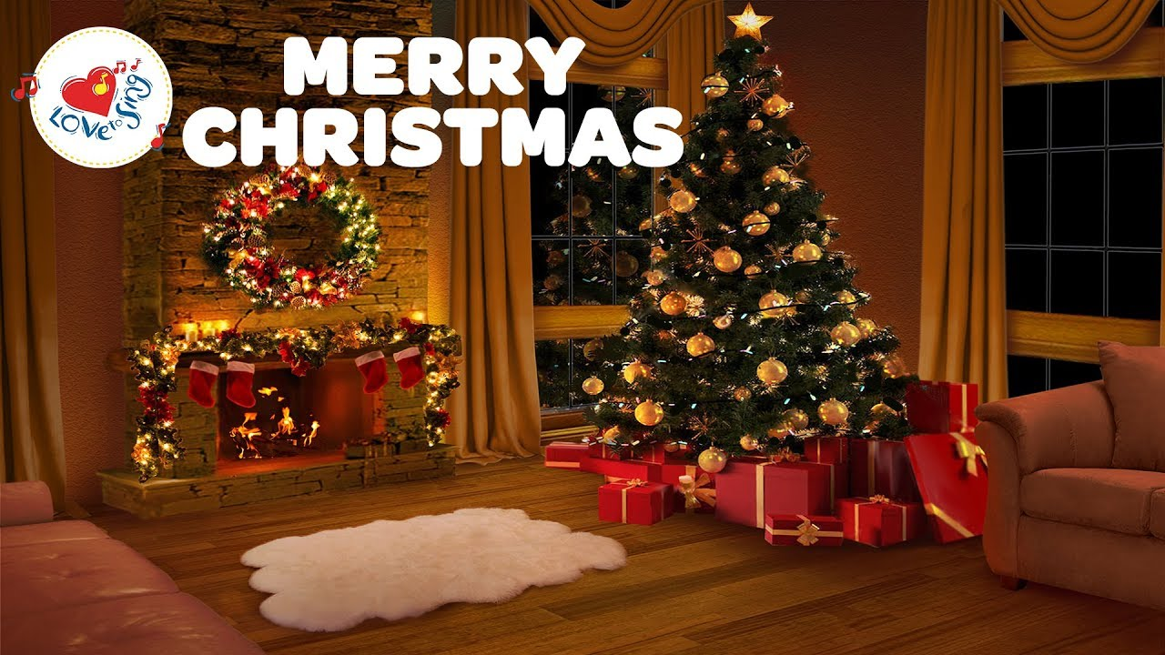 Christmas Fireplace Wallpaper Animated Merry Christmas Long Playlist With A Relaxing Christmas