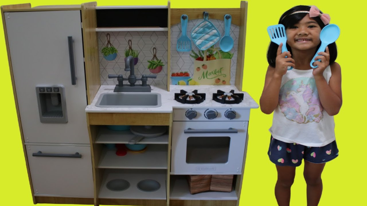 Sophia Pretend Play With Fresh Harvest Kitchen Cooking Toy Kids Playset Youtube