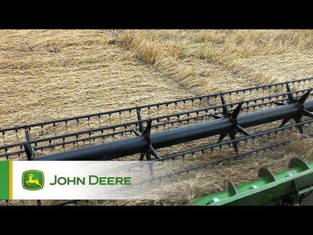 Kombajny John Deere serii S - Hydrauliczne przechylanie przenośnika pochyłego