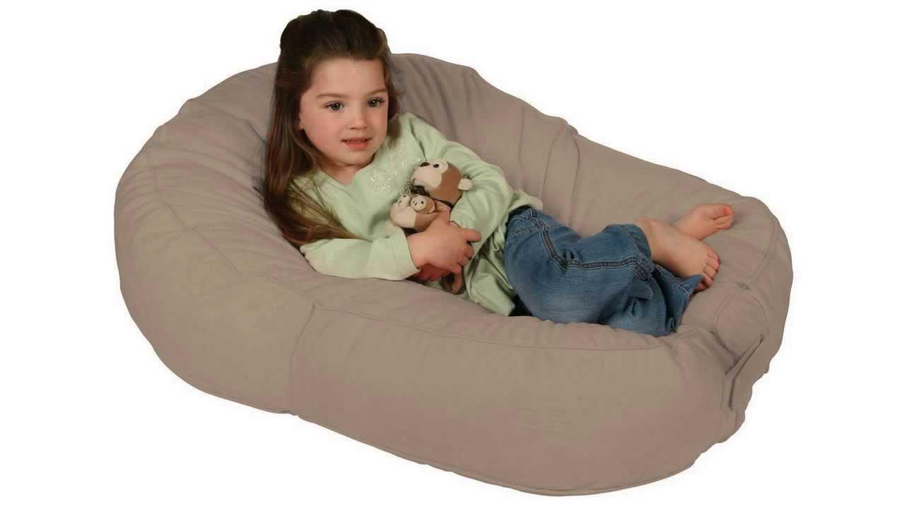 Baby Bean Bag Chair Leachco Pillay Plush Sling Style Lounger Latte
