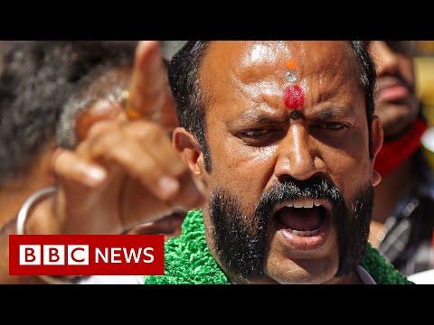 India farmers protest turn violent - BBC News