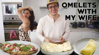 Super Fluffy, French and Filipino Omelettes (Anne's Ham and Cheese Omelet)