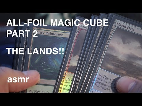 [Magic ASMR] Amazing All-Foil Cube Part 2: LANDS (asmr, whispering, visually stunning)