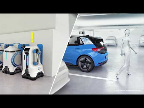 Volkswagen's latest robots bring electric charging to EXISTING parking spaces!