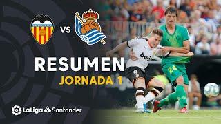 Resumen de Valencia CF vs Real Sociedad (1-1)